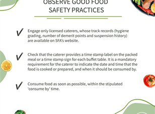 Food hygiene and safety reminder for festive season
